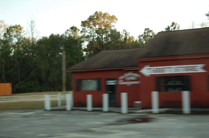 speedin' past Farmhouse Antiques