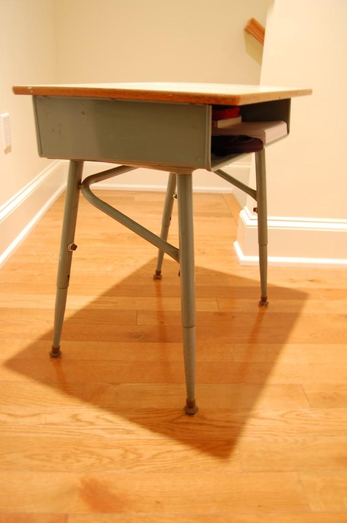blue school desk