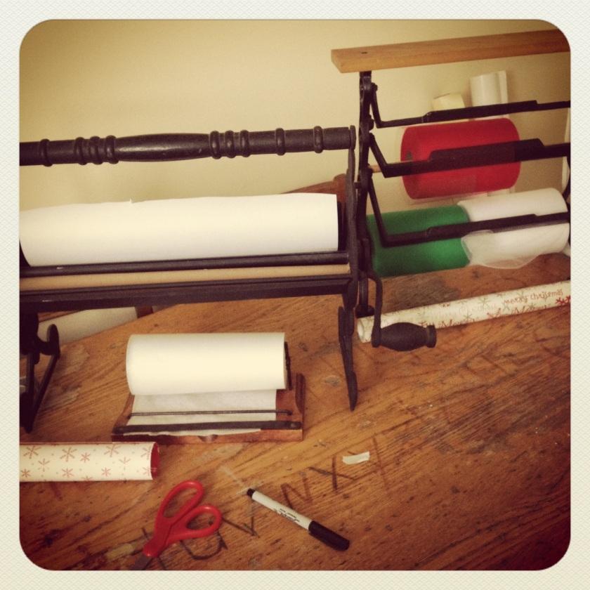 santas workshop paper cutters